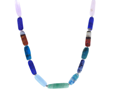 Apatite, Lapis and Aventurine Mixed Gem Necklace