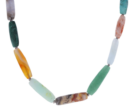Mixed Greens Multi Gem Beaded Necklace