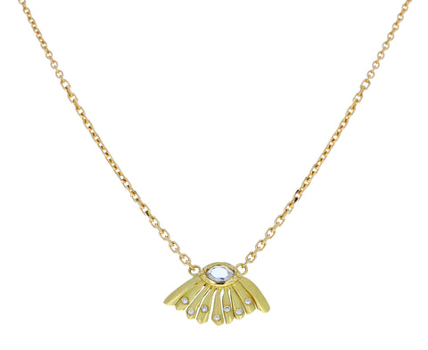Diamond Daisy Dewdrop Necklace