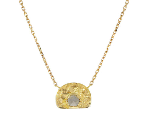 Ellipse Hera Engraved Diamond Necklace - TWISTonline