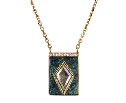 Kite Diamond Enamel Pendant Necklace - TWISTonline