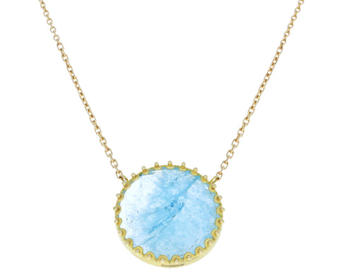 Aquamarine Moondust Necklace