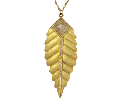 Maya Diamond Leaf Necklace