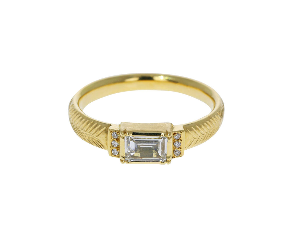 Engraved Artemis Diamond Ring - TWISTonline