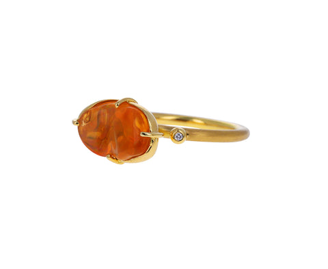 Fire Opal Cloud Ring