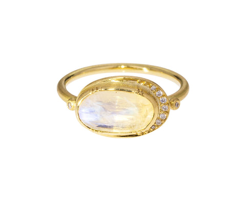Moonstone Ellipse Halo Ring - TWISTonline