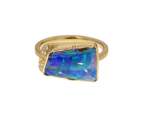 Boulder Opal Geo Halo Ring zoom 1_brooke_gregson_gold_diamond_opal_geo_halo_ring