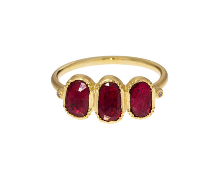 Triple Orbit Ruby Ring - TWISTonline