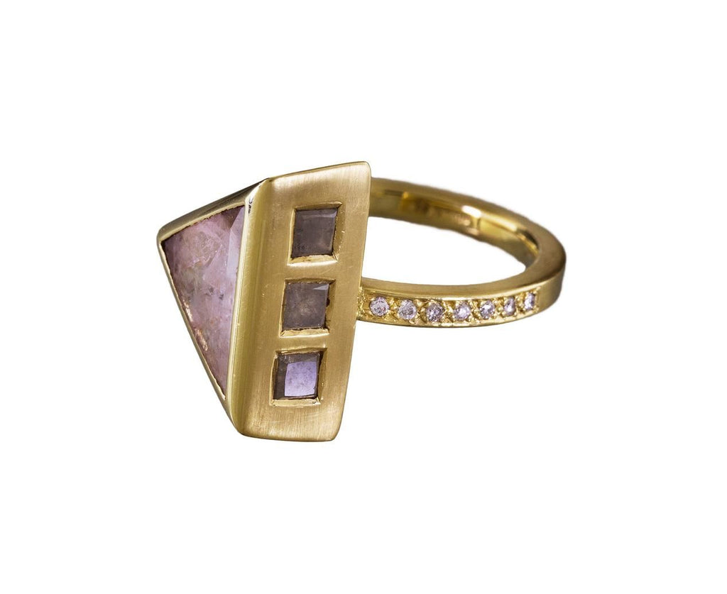 Piloti Triangle Diamond Slice Ring - TWISTonline