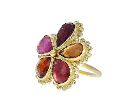 Tourmaline and Diamond Daisy Ring - TWISTonline