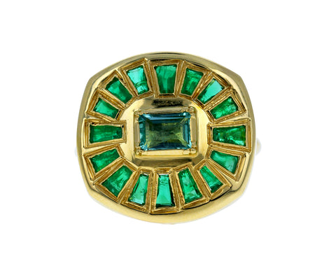 Emerald Talisman Shield Ring