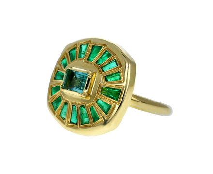 Emerald Talisman Shield Ring - TWISTonline