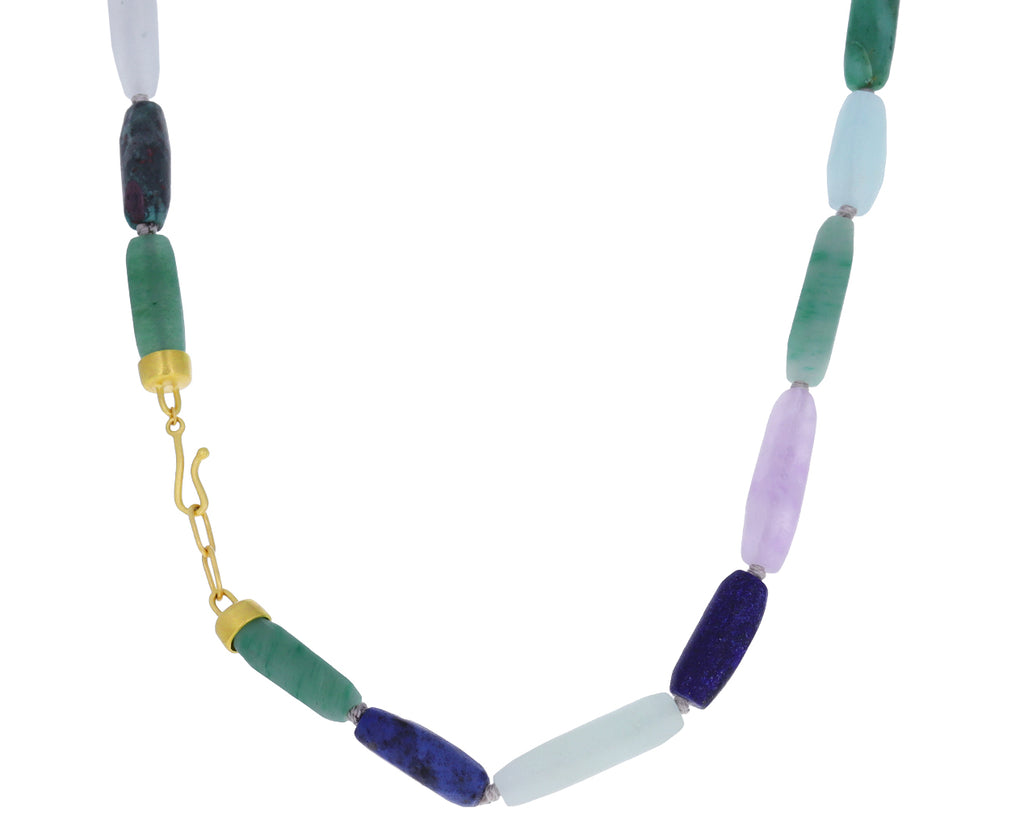 Lapis, Amethyst and Sapphire Mixed Gem Necklace