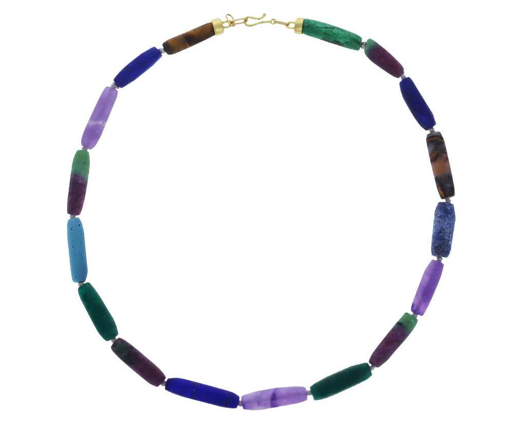 Brooke Gregson Lapis, Amethyst and Ruby in Ziosite Mixed Gem Necklace
