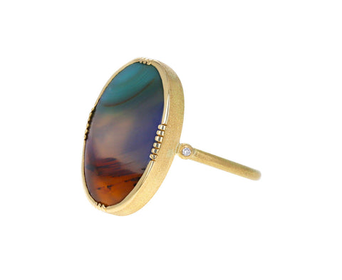 Brooke Gregson Landscape Agate and Diamond Ring