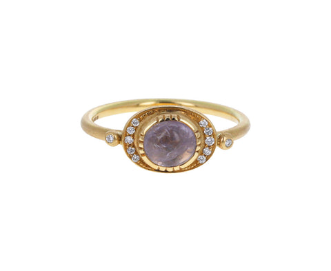 Brooke Gregson Lilac Sapphire Ellipse Halo Ring