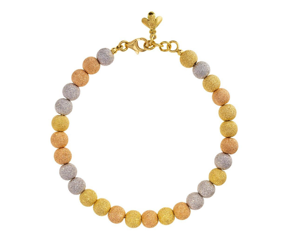 Mixed Gold Sparkly Bead Bracelet zoom 1_carolina_bucci_white_pink_yellow_gold_sparkly_be