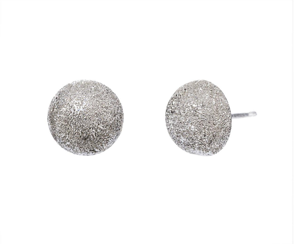 Large Florentine Posts Earrings zoom 1_carolina_bucci_white_gold_mirador_half_ball_earr