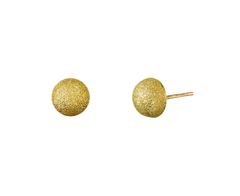 Small Florentine Posts Earrings zoom 1_carolina_bucci_gold_florentine_dome_earrings5
