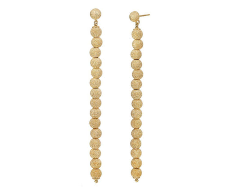 Yellow Gold Beaded Column Earrings zoom 1_carolina_bucci_gold_beaded_column_earrings