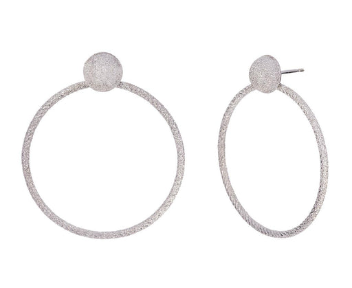 Large White Gold Florentine Doorknocker Earrings - TWISTonline