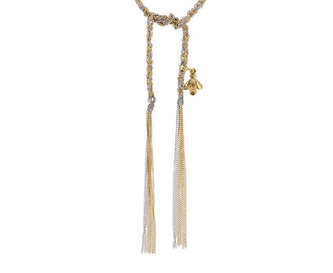 Lucky Virtue Woven Silk and Gold Necklace zoom 1_carolina_bucci_woven_gold_lucky_virtue_tassle_ne