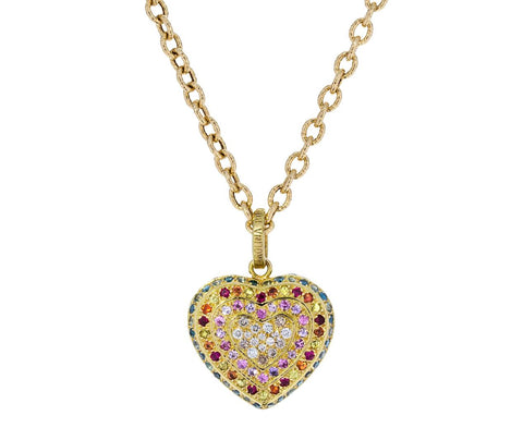 Diamond and Sapphire Coeur Pendant ONLY zoom 1_carolina_bucci_gold_pave_heart_charm