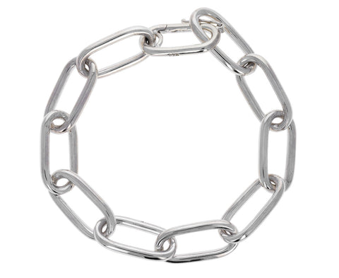 Rectangular Large Link Chain Bracelet