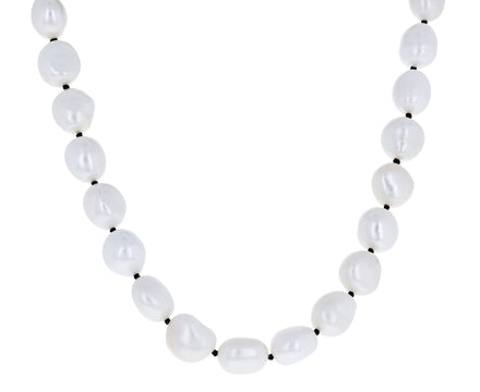 Simple Baroque Pearl Collar Necklace