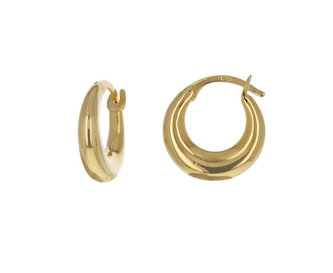 Gold Tiny Essential Hoop Earrings