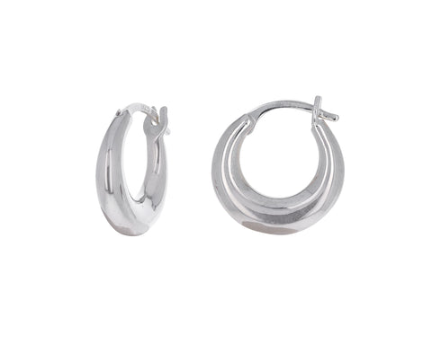 Silver Tiny Essential Hoop Earrings