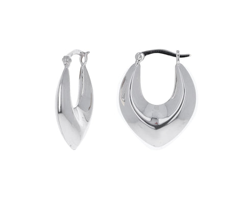 Silver Clio Hoop Earrings
