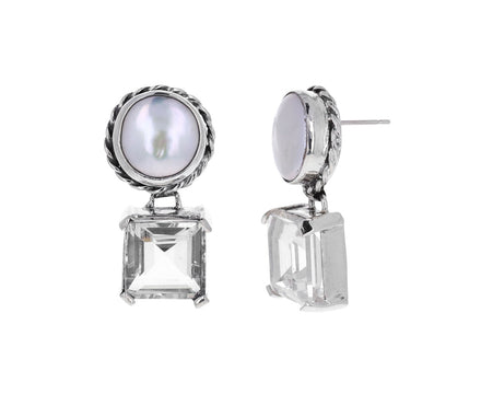 Crystal and Pearl Firenze Earrings