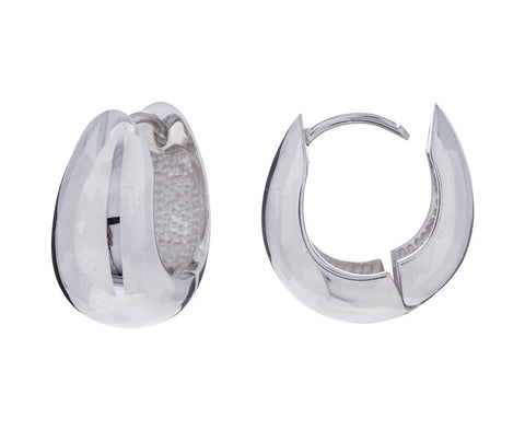 Silver Hinged Hoops - TWISTonline