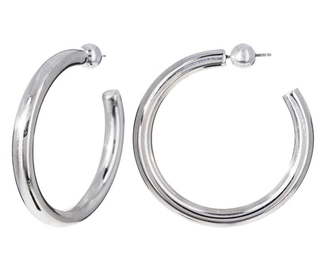 Medium Silver Everyday Hoops - TWISTonline
