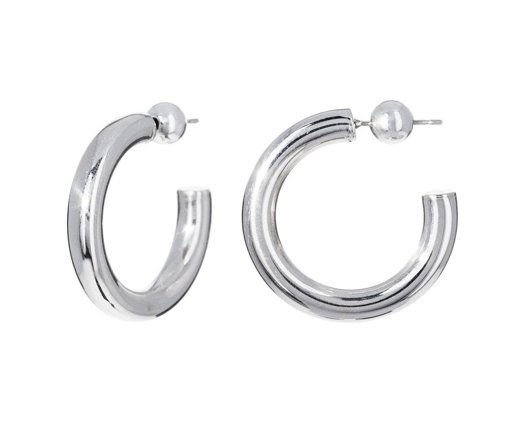 Small Silver Everyday Hoops - TWISTonline