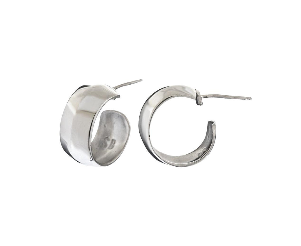 Small Silver Zora Hoops - TWISTonline