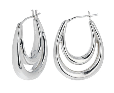Large Blanche Hoops