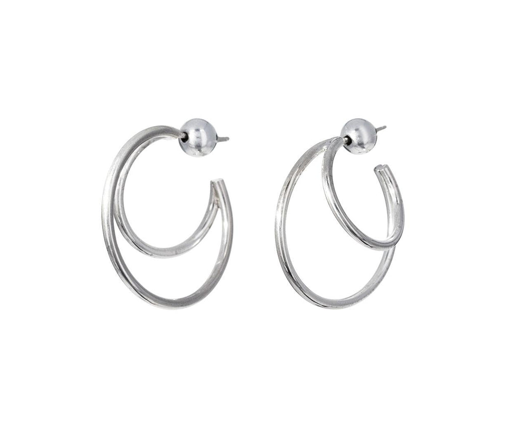 Silver Double Layer Hoops - TWISTonline