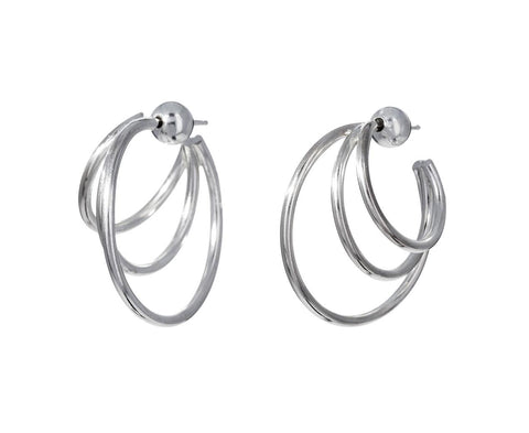 Silver Triple Layer Hoops - TWISTonline