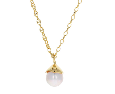 Freshwater Pearl Tear Pendant Necklace