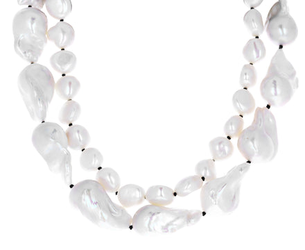 Baroque and Freshwater Pearl Double Collar Necklace