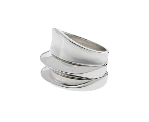 Set of Three Silver Dimple Rings - TWISTonline