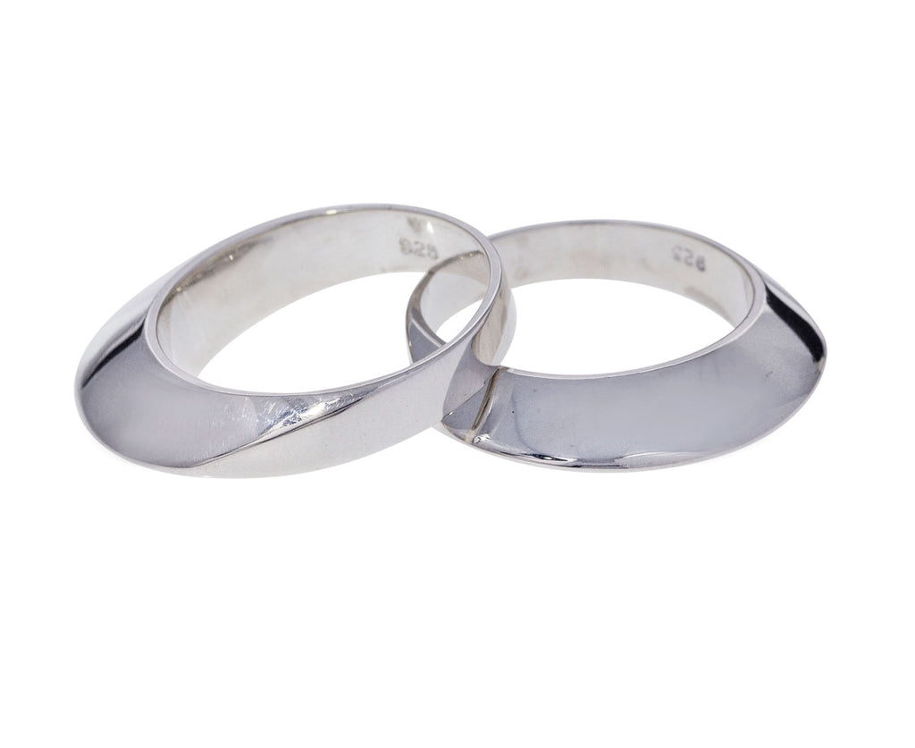 Set of Silver Disc Rings - TWISTonline