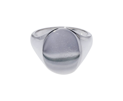 Large Silver Signet Ring - TWISTonline