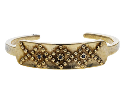 Bronze Black Diamond Diamondback Cuff Bracelet