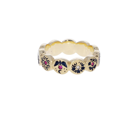 Gold Mini Carousel Ring