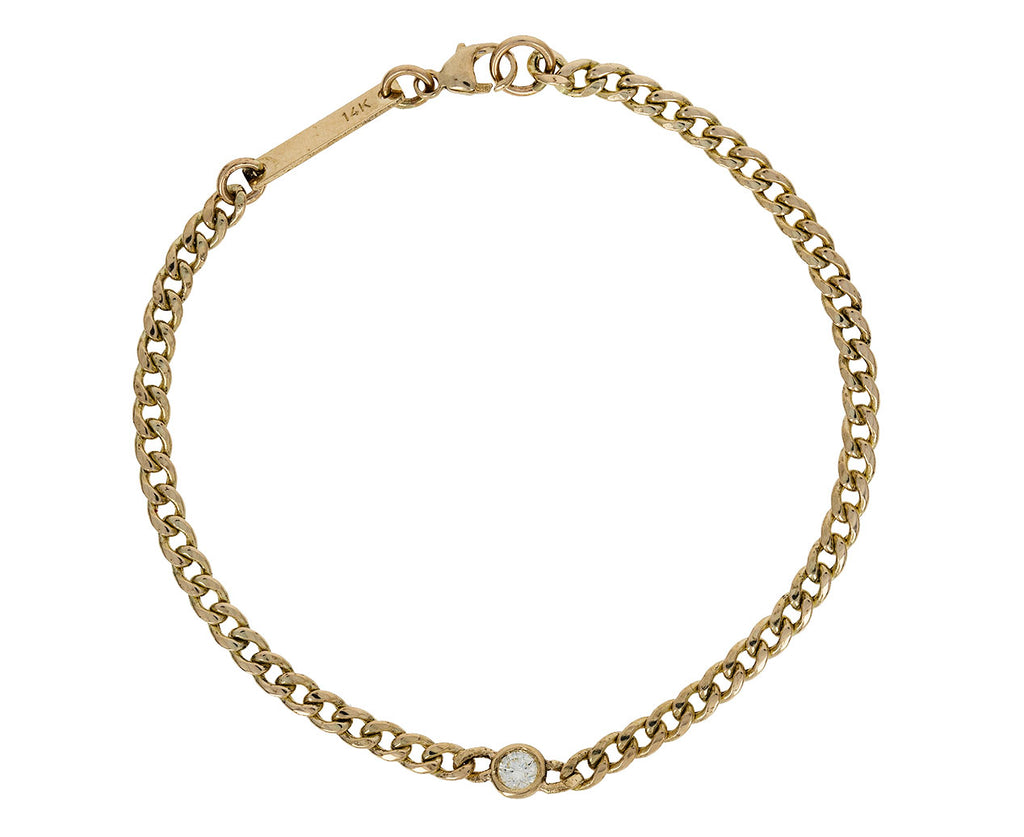 Floating Diamond Curb Chain Bracelet