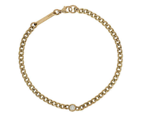 Floating Diamond Curb Chain Bracelet - TWISTonline