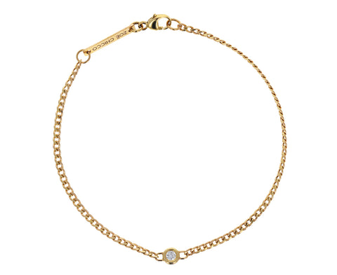 Extra Small Curb Chain Diamond Bracelet